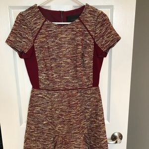 J. Crew tweed dress with flare skirt